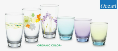 Bộ ly Organic Color của Ocean Glass